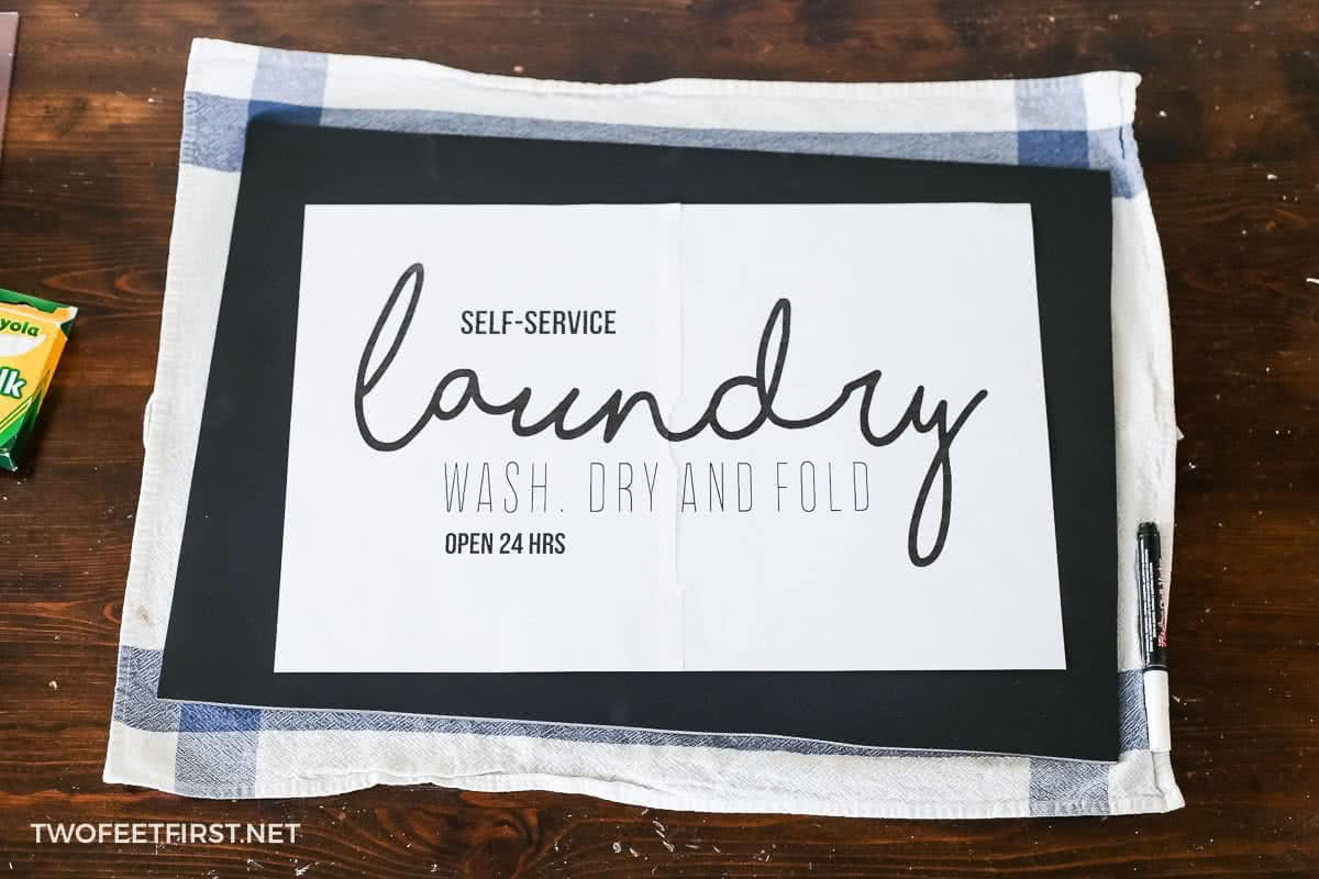 laundry room chalkboard sign