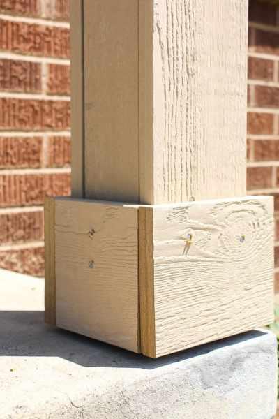 add trim to porch columns
