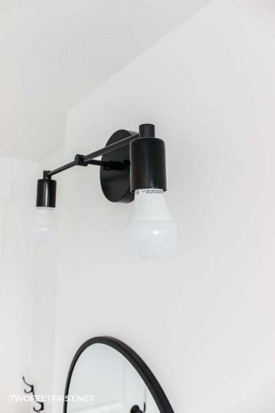 handmade farmhouse vanity light fixture