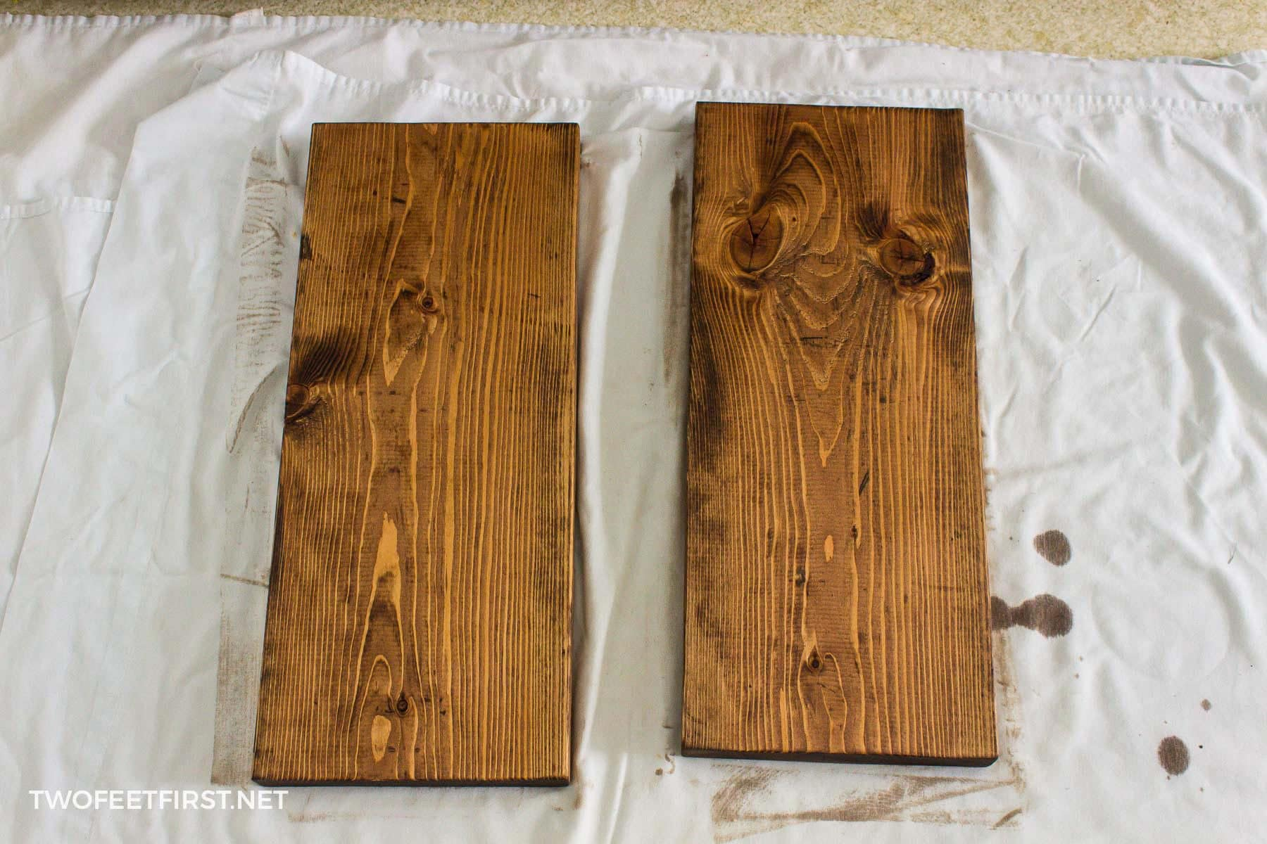 staining wood for shoe rack