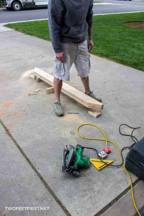 cut trim for fence pergola
