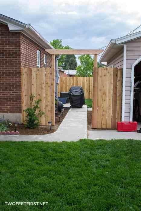 building pergola for fence
