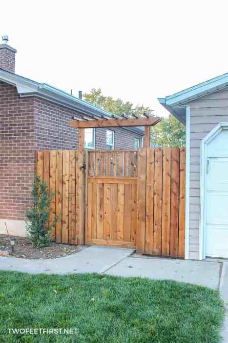 fence pergola over gate