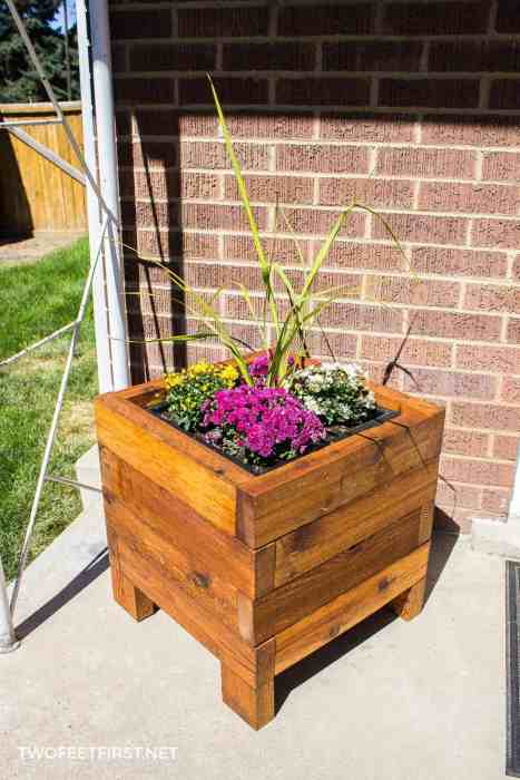 DIY square planter box