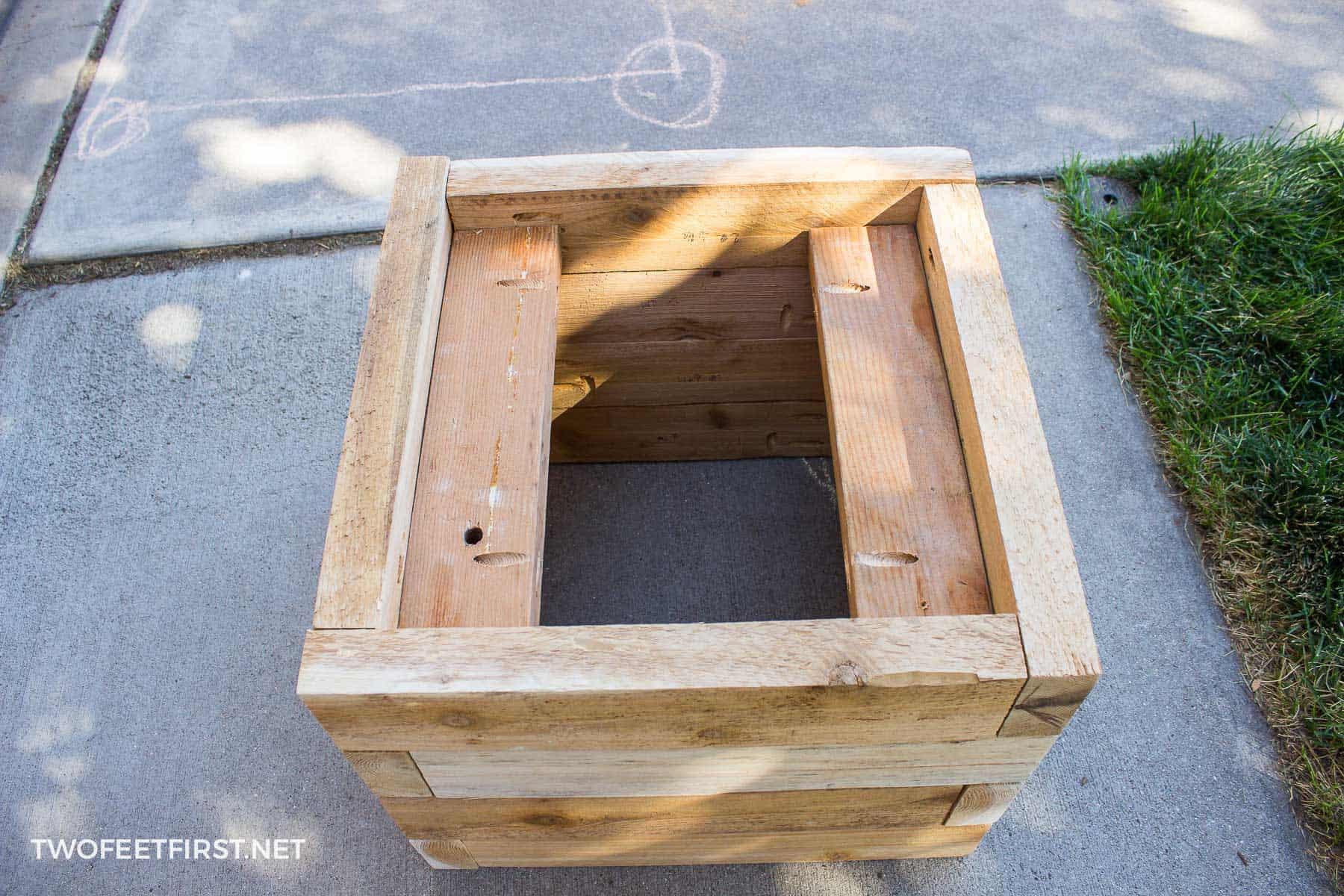 base of planter box
