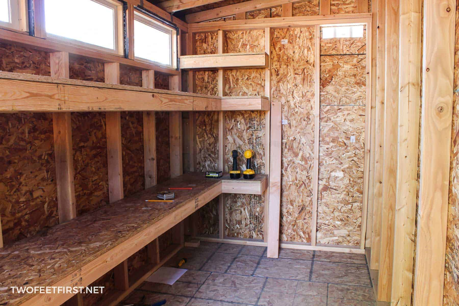 Tape Measure Test >> How to build storage shelves in a shed or garage