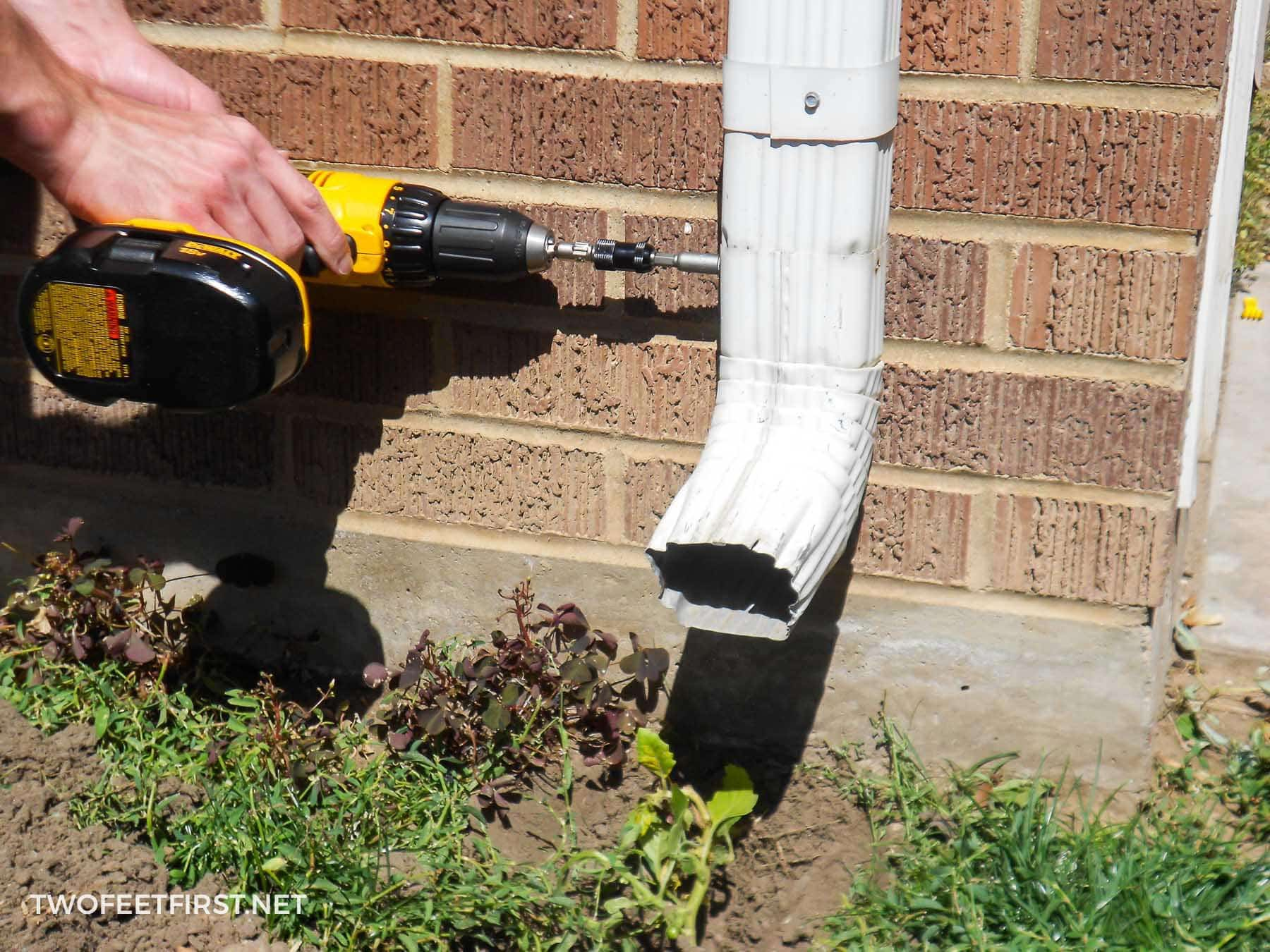 How To Bury A Gutter Downspout
