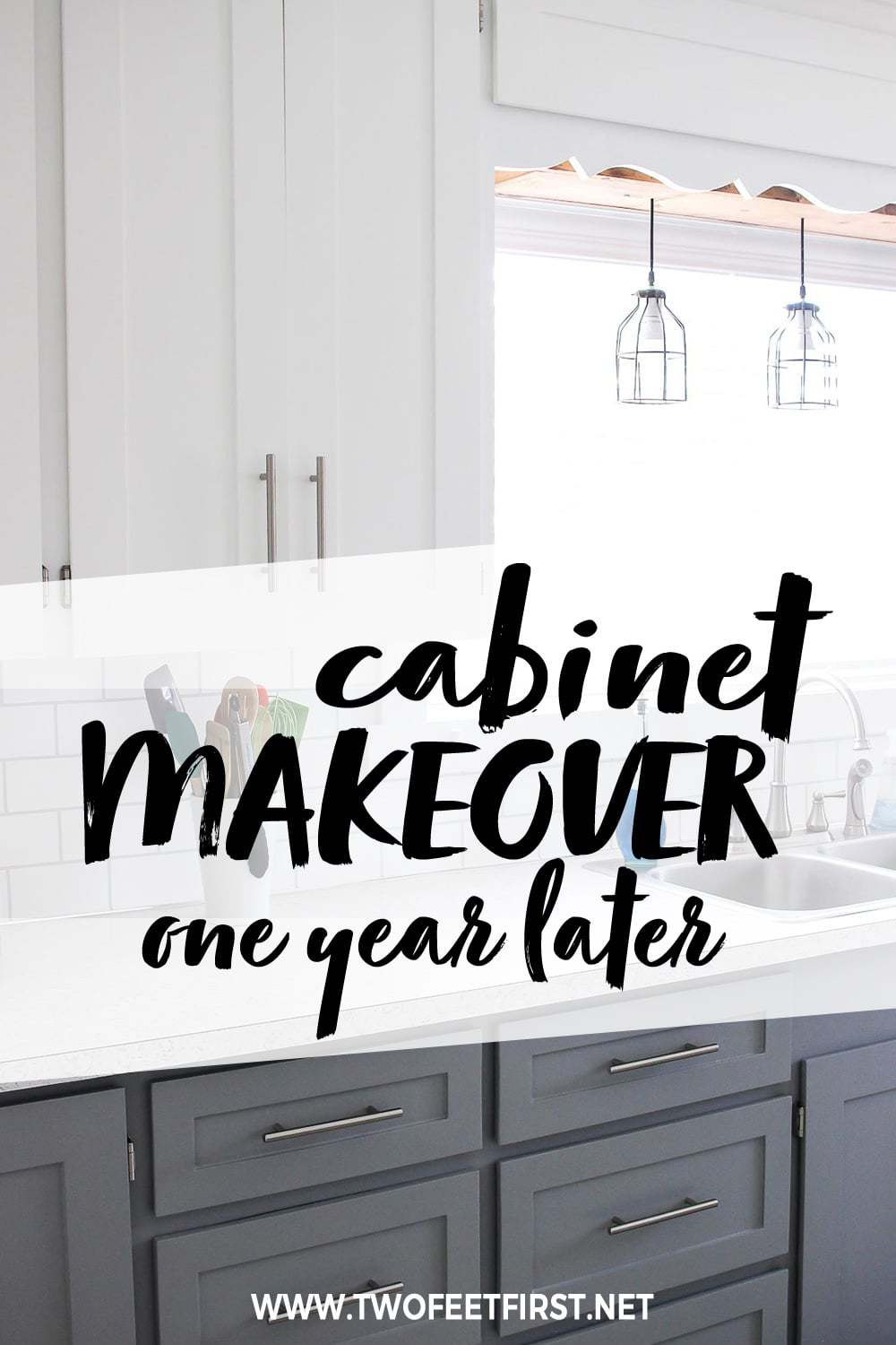 kitchen cabinet makeover one year later