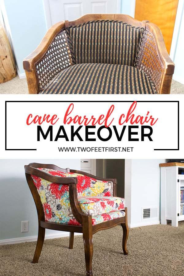 cane barrel chair makeover