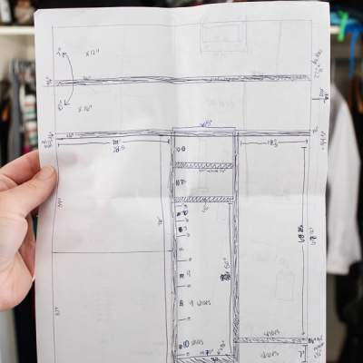 Plans to update closet