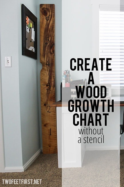 create a wooden growth chart ruler