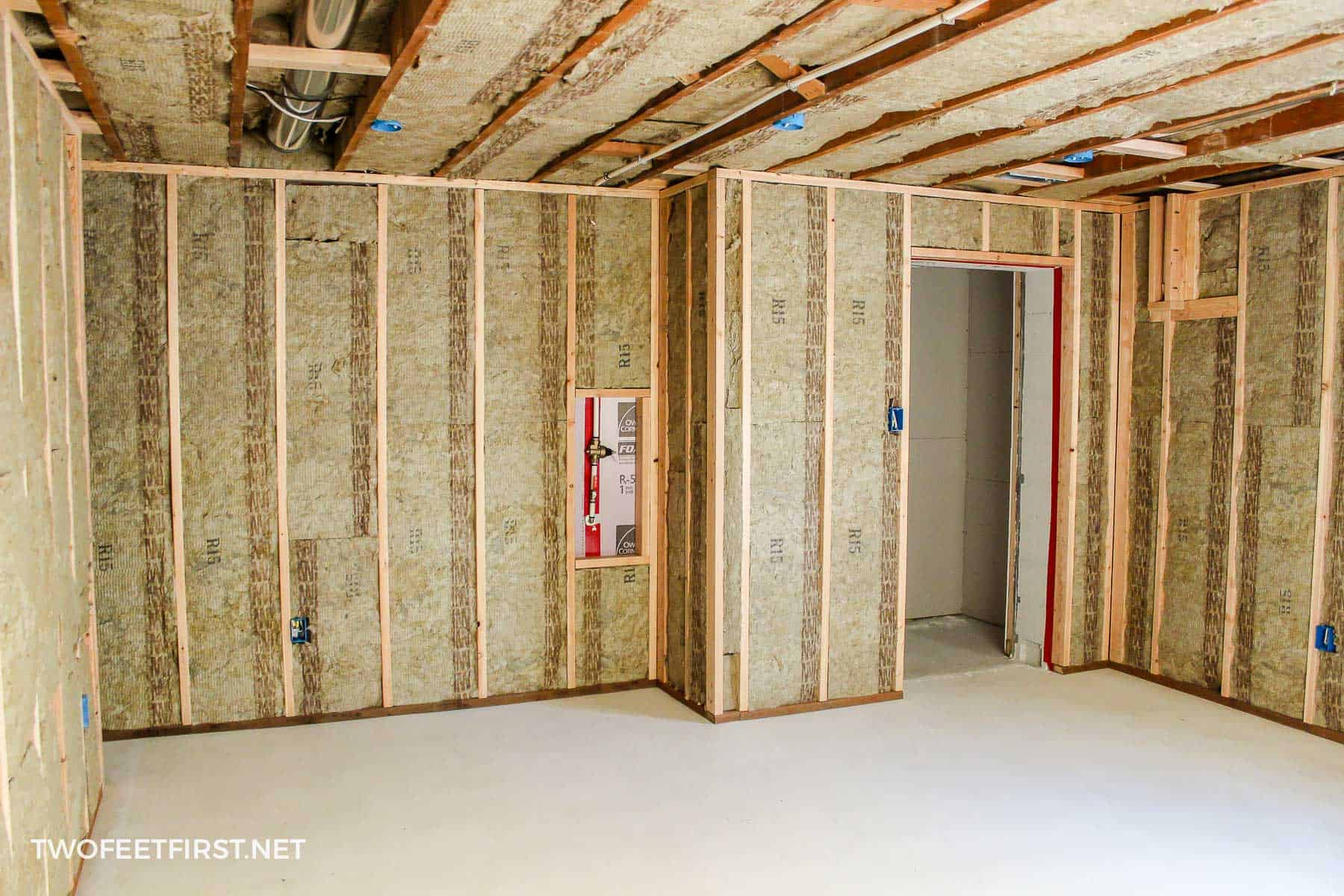 finishing basement walls with framing and insulation