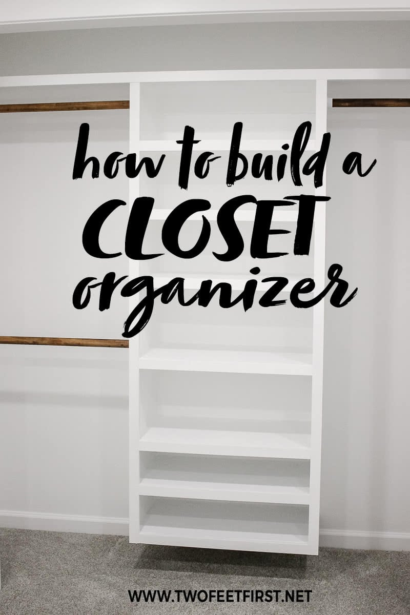 how to build a closet organizer