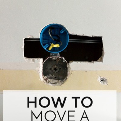 How to Move Wall Light