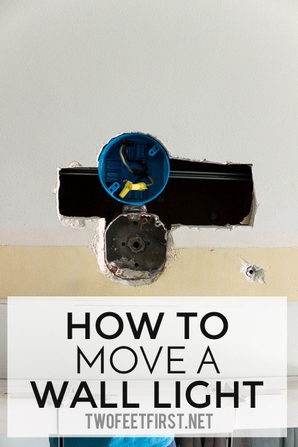How to move a wall light