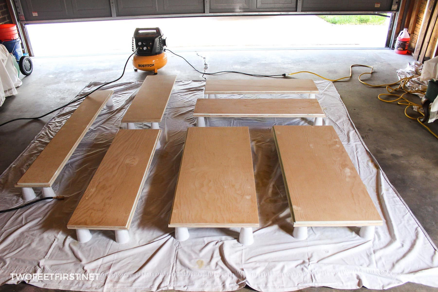 Using A Compressor To Paint Kitchen Doors