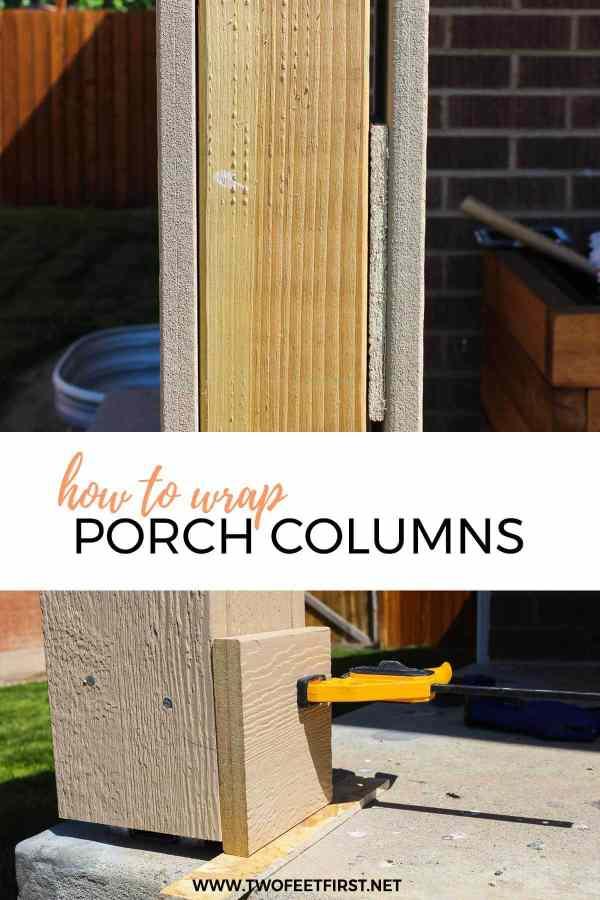 how to wrap porch columns