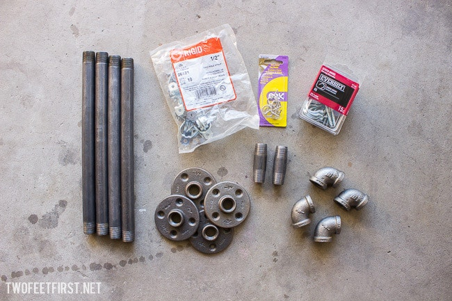 DIY Industrial Pan Rack