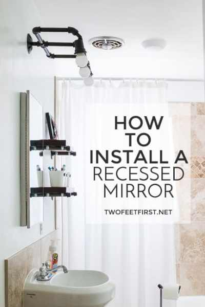 Install a Recessed Vanity Mirror