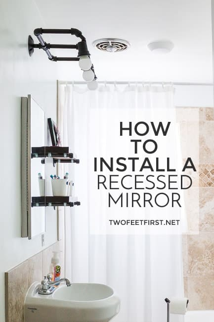 How to install a recessed vanity mirror