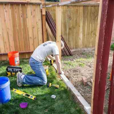 rebracing a fence