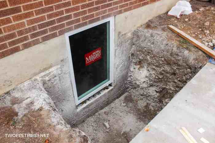 installing casement basement window