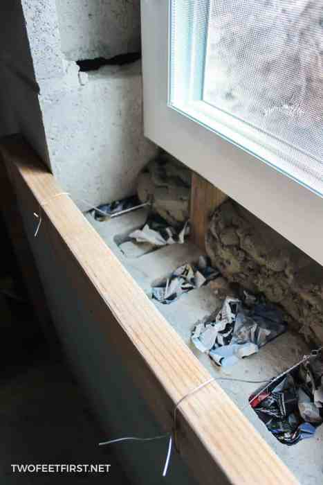 concrete form around window