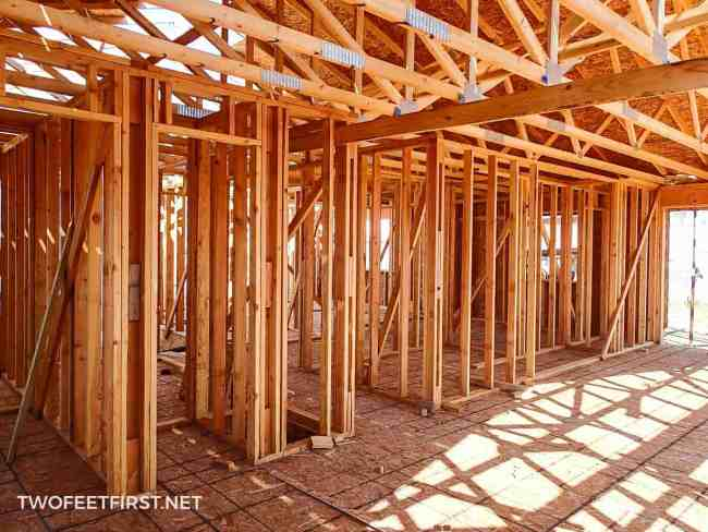 What goes into building the foundation and walls of a duplex?