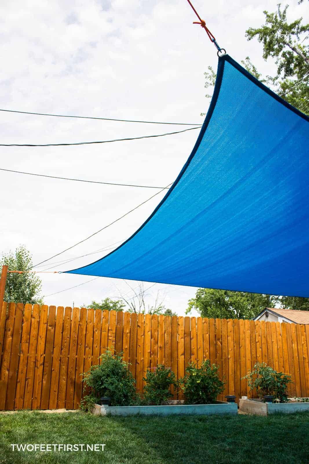 Installing Sun Sail Shade In A Yard