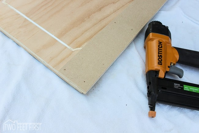 Add trim to cabinet doors