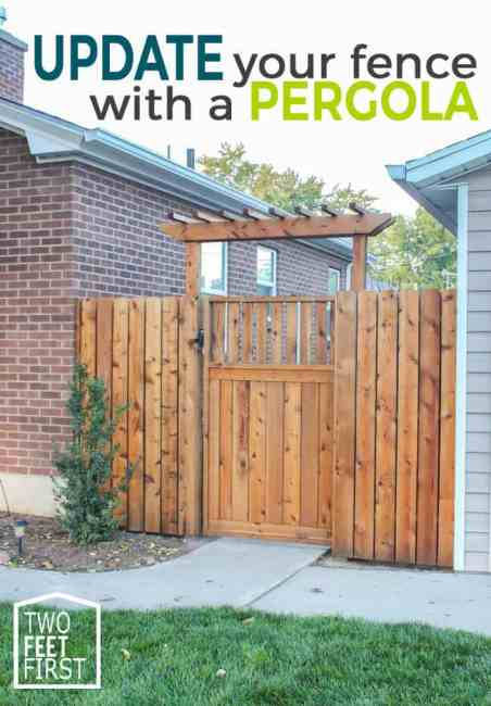 Do you want a simple build to update your yard? Here is how to build a pergola for over a fence.