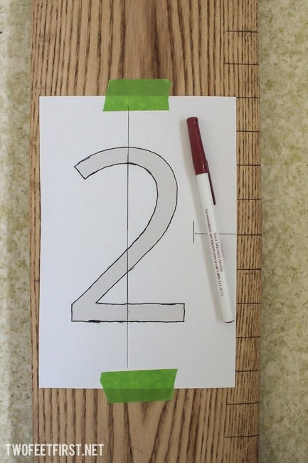 Create a Wooden Growth Chart Ruler without stencil