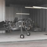 Pitts airplane in hangar