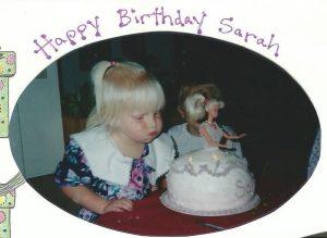 Sarah turns 3