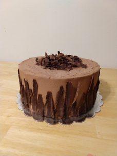 Chocolate shavings cake