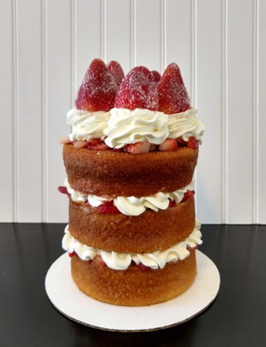 Strawberry layered cake