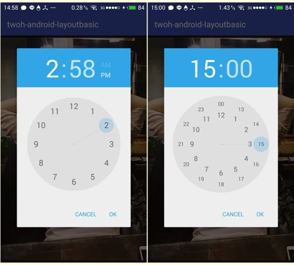 TimePicker android sample