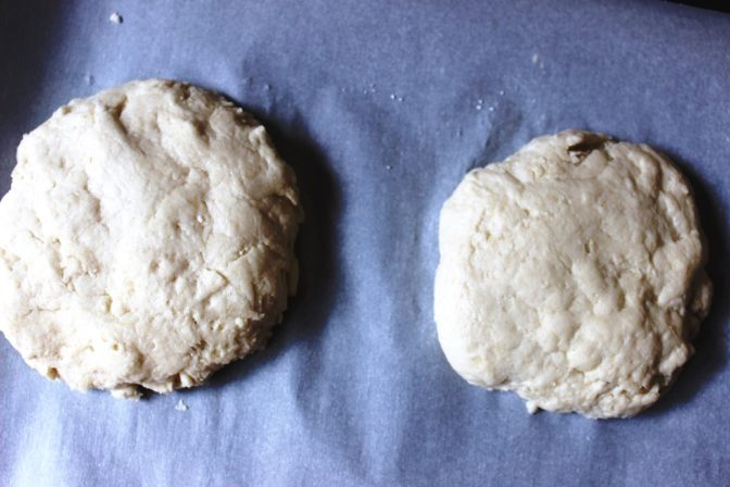 Biscuits ready to bake