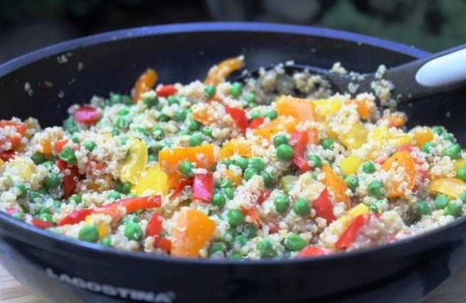 Rainbow Quinoa Stir Fry with Orange Vinaigrette