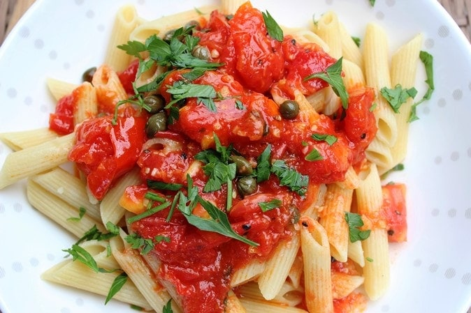 Fresh Tomato Saute with Pasta