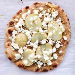 naan pizza ricotta and potato