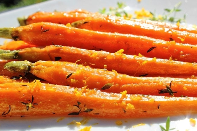 Roasted Honey-Thyme Carrots