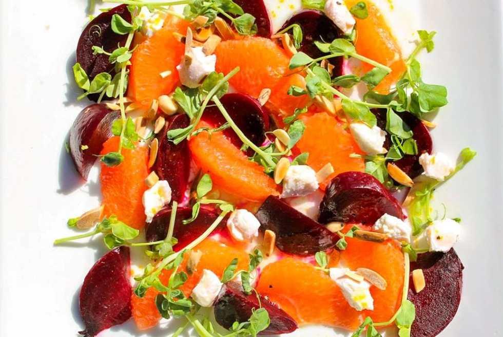 Beet, Orange and Goat Cheese Salad