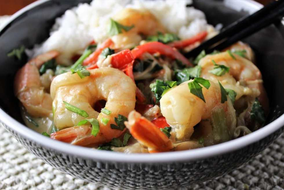 Thai Curry Shrimp and Vegetables