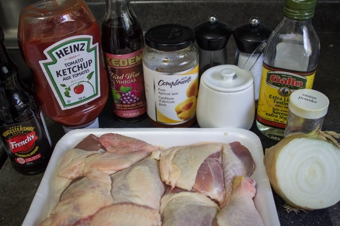 Baked Apricot Onion Chicken ingredients