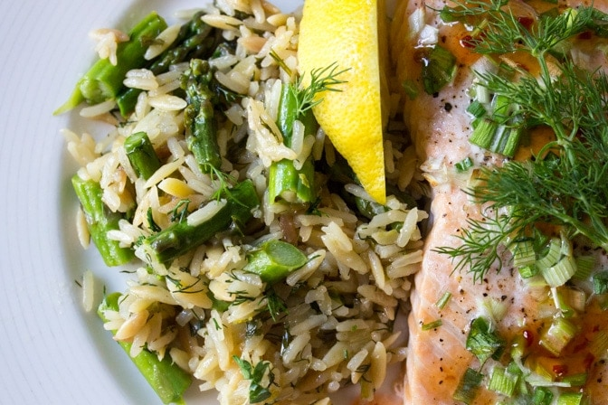 Lemon Dill Rice-Orzo
