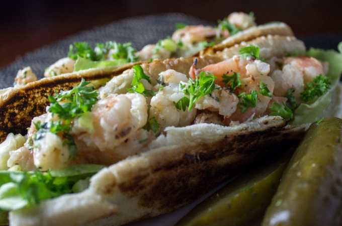 Grilled Shrimp Rolls (aka lobster roll alternative)