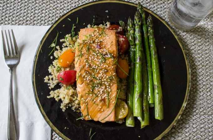 Easy Maple Lime Salmon