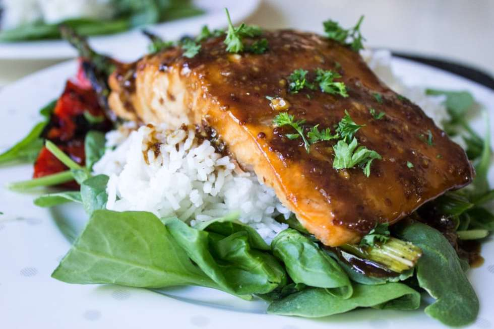 Canadian Maple Planked Salmon