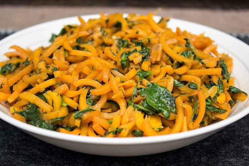 Spiralized Butternut Squash with Balsamic Butter Sauce